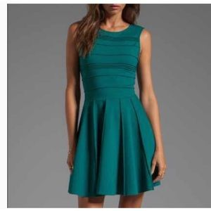 Parker Dress in Alpine Green